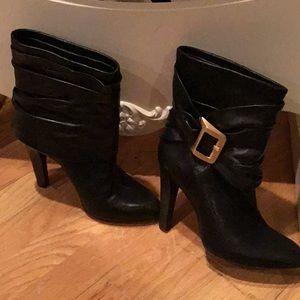 BCBG Max black soft leather boots size 7